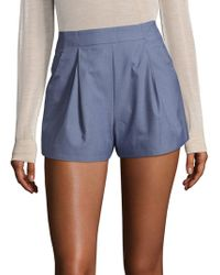 C/meo Collective - Take Me Over Chambray Shorts - Lyst