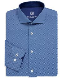 Bugatchi - Textured Cotton Dress Shirt - Lyst