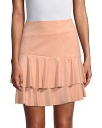 BCBGMAXAZRIA - Tiered Mini Skirt - Lyst
