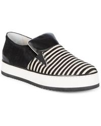 Emporio Armani - Stripe Slip-on Sneakers - Lyst