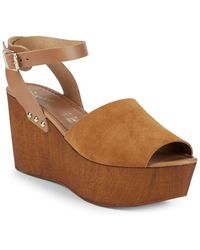 Seychelles - Paddle Suede Ankle-strap Wedge Sandals - Lyst