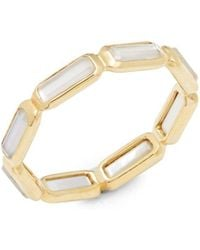 Ippolita - Rock Candy 18k Yellow Gold Quartz Doublet & Mother-of-pearl Ring - Lyst