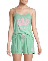 Juicy Couture - Two-piece Logo Pyjama Set - Lyst