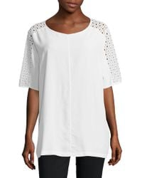 Basler - Solid Cutout Top - Lyst