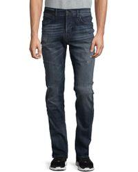 Hudson Jeans - Axl Distressed Skinny Jeans - Lyst