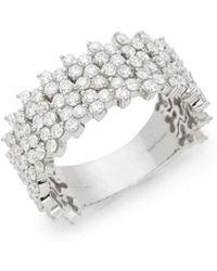 Hueb - Reverie 18k White Gold & Diamond Statement Ring - Lyst