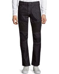True Religion   Slim-fit Run-stitch Moto Jeans   Lyst