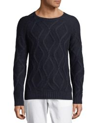 J.Lindeberg - Diamond Knit Wool, Silk, & Cashmere Sweater - Lyst