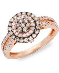 Le Vian - Chocolatier® Chocolate Diamonds® And Vanilla Diamonds® 14k Strawberry Gold® Ring - Lyst