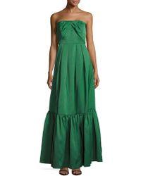 Zac Posen - Straight Across Neckline Pleated Gown - Lyst