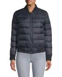 William Rast - Full-zip Puffer Bomber Jacket - Lyst