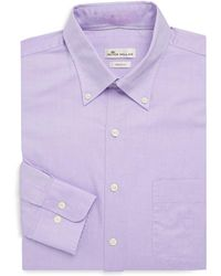 Peter Millar - Crown Pinpoint Shirt - Lyst