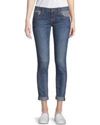 Miss Me - Deco Accent Ankle Skinny Jeans - Lyst