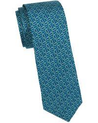 Saks Fifth Avenue - Printed Silk Tie - Lyst