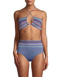 Dolce Vita - Textured Crochet Bikini Top - Lyst