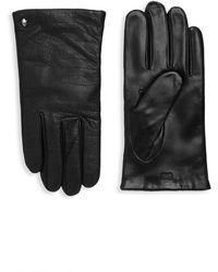 Roberto Cavalli - Crocodile-embossed Leather Gloves - Lyst