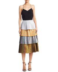 DELFI Collective - Lauren Tiered Pleated Skirt - Lyst