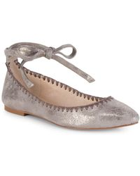 Vince Camuto - Braneeda Leather Ankle-strap Flats - Lyst