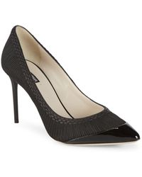 Giorgio Armani - Embroidered Stiletto Pumps - Lyst