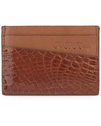 Saks Fifth Avenue - Alligator Card Holder - Lyst