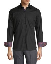 Bertigo - Zigzag Cotton Button-down Shirt - Lyst