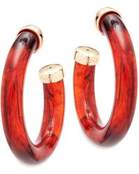Kenneth Jay Lane - Large Hoop Earrings - Lyst
