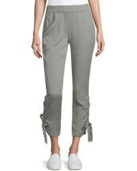 Saks Fifth Avenue - Lace-up Jogger Pants - Lyst