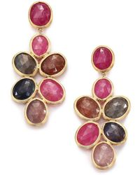 Marco Bicego - Siviglia Multicolour Sapphire & 18k Yellow Gold Chandelier Drop Earrings - Lyst