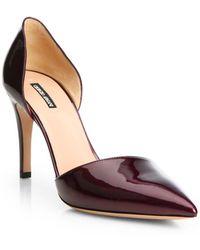 Giorgio Armani - Patent Leather D'orsay Pumps - Lyst