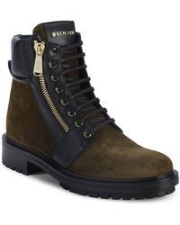 Balmain - Army Ranger Leather Boots - Lyst