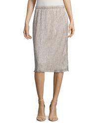 Saks Fifth Avenue - Shimmer Midi Skirt - Lyst