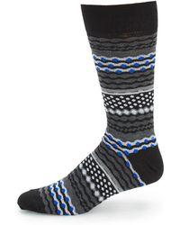 Saks Fifth Avenue - Geometric Mid-calf Socks - Lyst