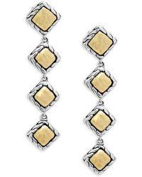 John Hardy - Palu 18k Gold And Silver Linear Earrings - Lyst