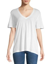 Splendid - V-Neck T-Shirt  - Lyst