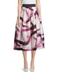 Dolce & Gabbana - Printed Silk Skirt - Lyst