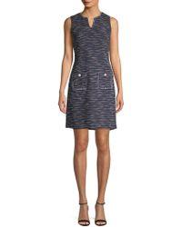 Karl Lagerfeld - Knit Frayed Sheath Dress - Lyst