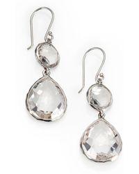 Ippolita - Clear Quartz & Sterling Silver Drop Earrings - Lyst