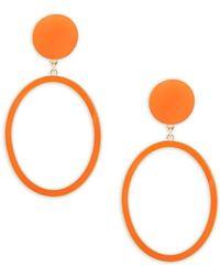 Natasha Couture - Geometric Drop Earrings - Lyst