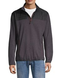 Hawke & Co. - Quilted Mixed Media Quarter Zip Jumper - Lyst