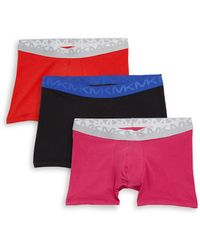 Michael Kors - Three-pack Logo Stretch Boxer Briefs - Lyst
