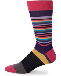 Bugatchi - Colorblock Casual Socks - Lyst