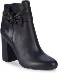 Saks Fifth Avenue - Jessa Leather Knot Booties - Lyst