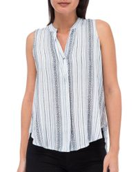 B Collection By Bobeau - Striped Sleeveless Top - Lyst