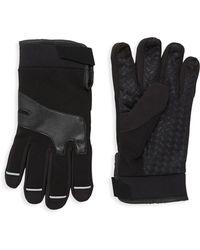 Saks Fifth Avenue - Ribbed Fleece Gloves - Lyst