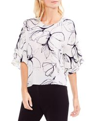 Vince Camuto - Fresco Petals Tiered Ruffle-sleeve Blouse - Lyst