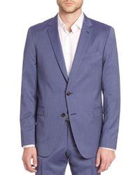 Saks Fifth Avenue - Pinstriped Wool-blend Sportcoat - Lyst