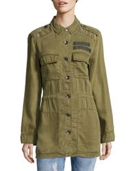 True Religion - Long Sleeve Military Jacket - Lyst