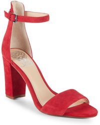 Vince Camuto - Corlina Ankle-strap Suede Sandals - Lyst