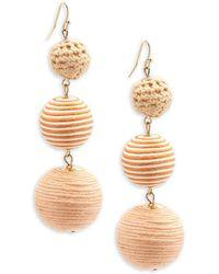 Shashi - Crochet Ball Drop Earrings - Lyst