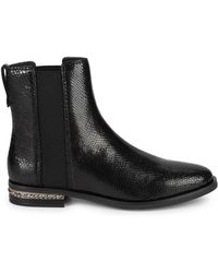 Franco Sarto - Racine Embossed Snakeskin Leather Ankle Boots - Lyst
